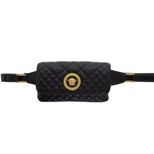 NEW Versace Mini Quilted Medusa Icon Belt Bag
